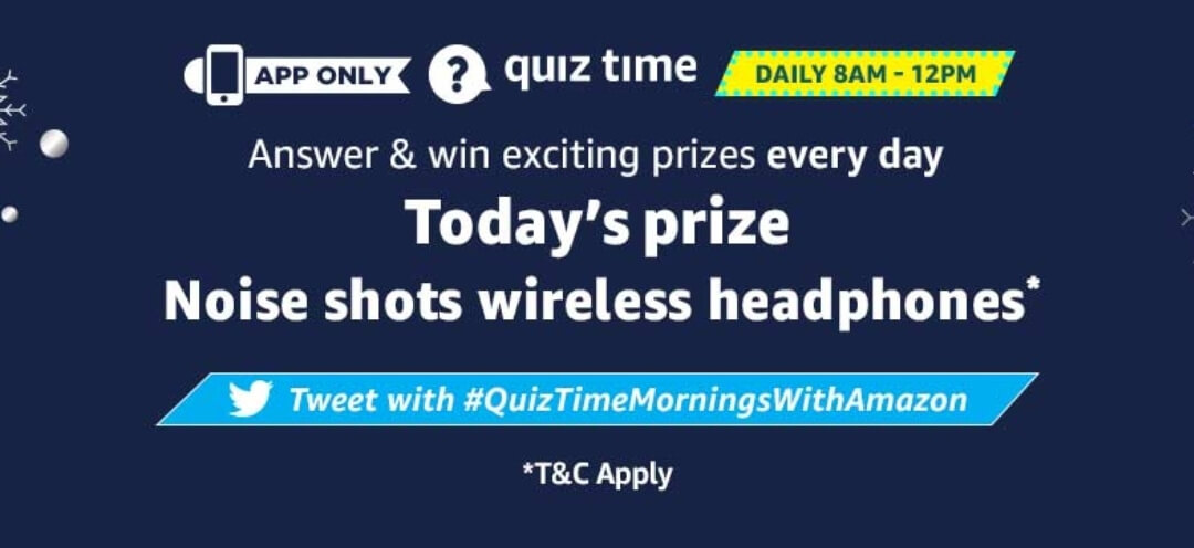 amazon quiz 4 january toaday
