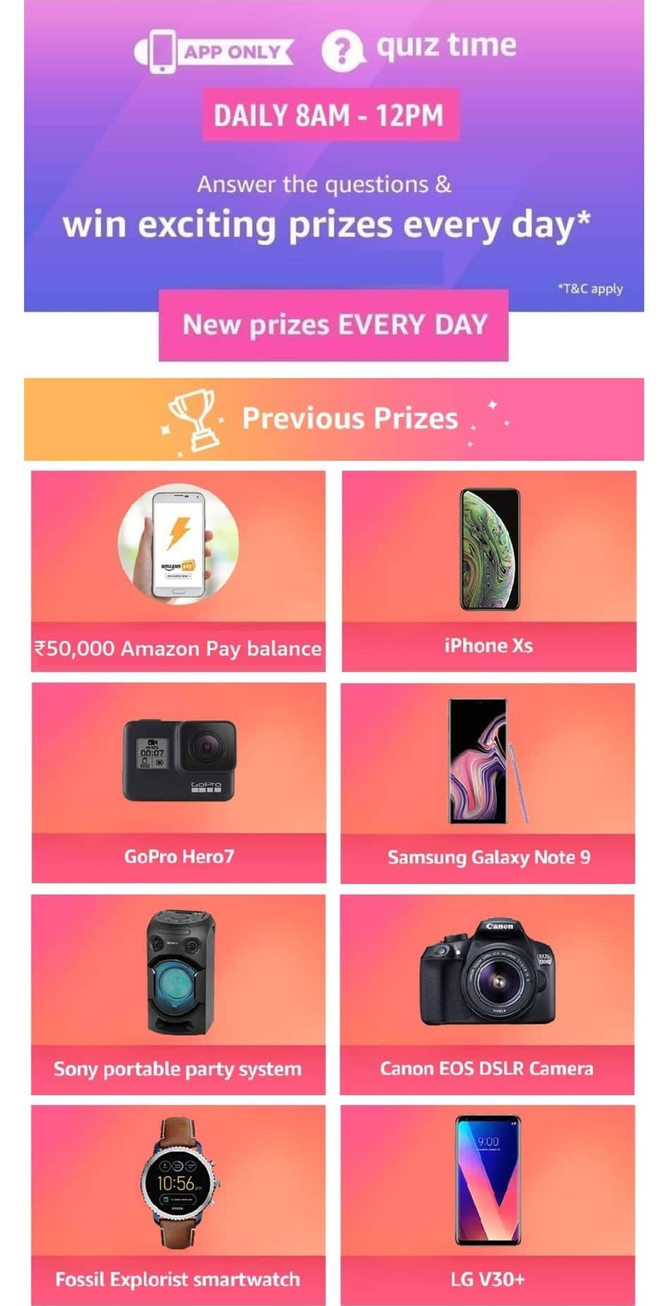 amazon quiz today
