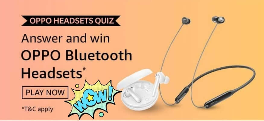 Amazon Oppo Headsets Quiz- Oppo Bluetooth Headsets 1