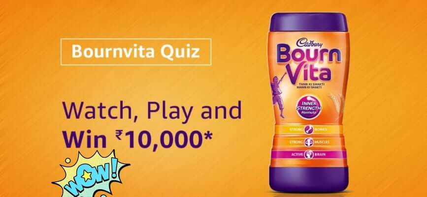 amazon quiz bournvita quiz win