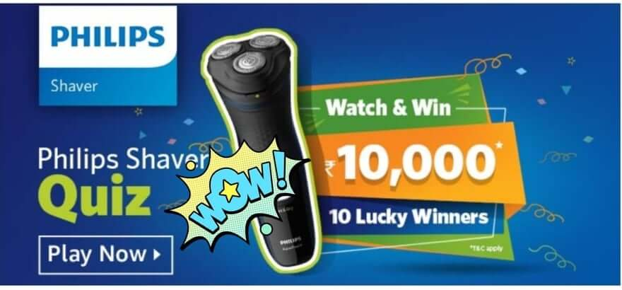 Amazon Philips Shaver Quiz