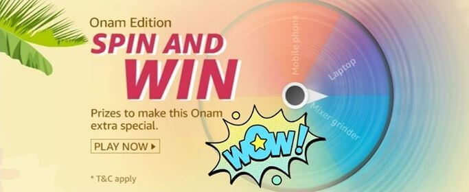 Amazon Onam Edition Spin And Win Quiz Answers