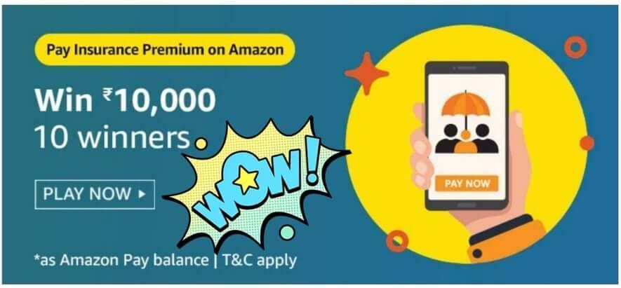 Amazon Pay Insurance Premium Quiz Answers