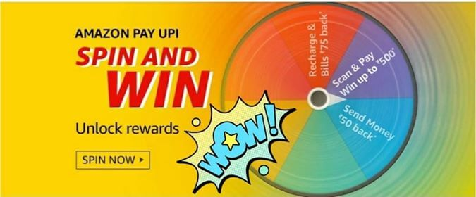 Amazon Pay UPI Spin & Win Quiz